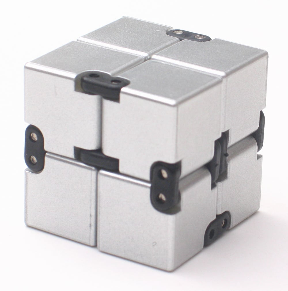infinity cube. infinity cube 4x4x4cm fidget toy with silver metallic d