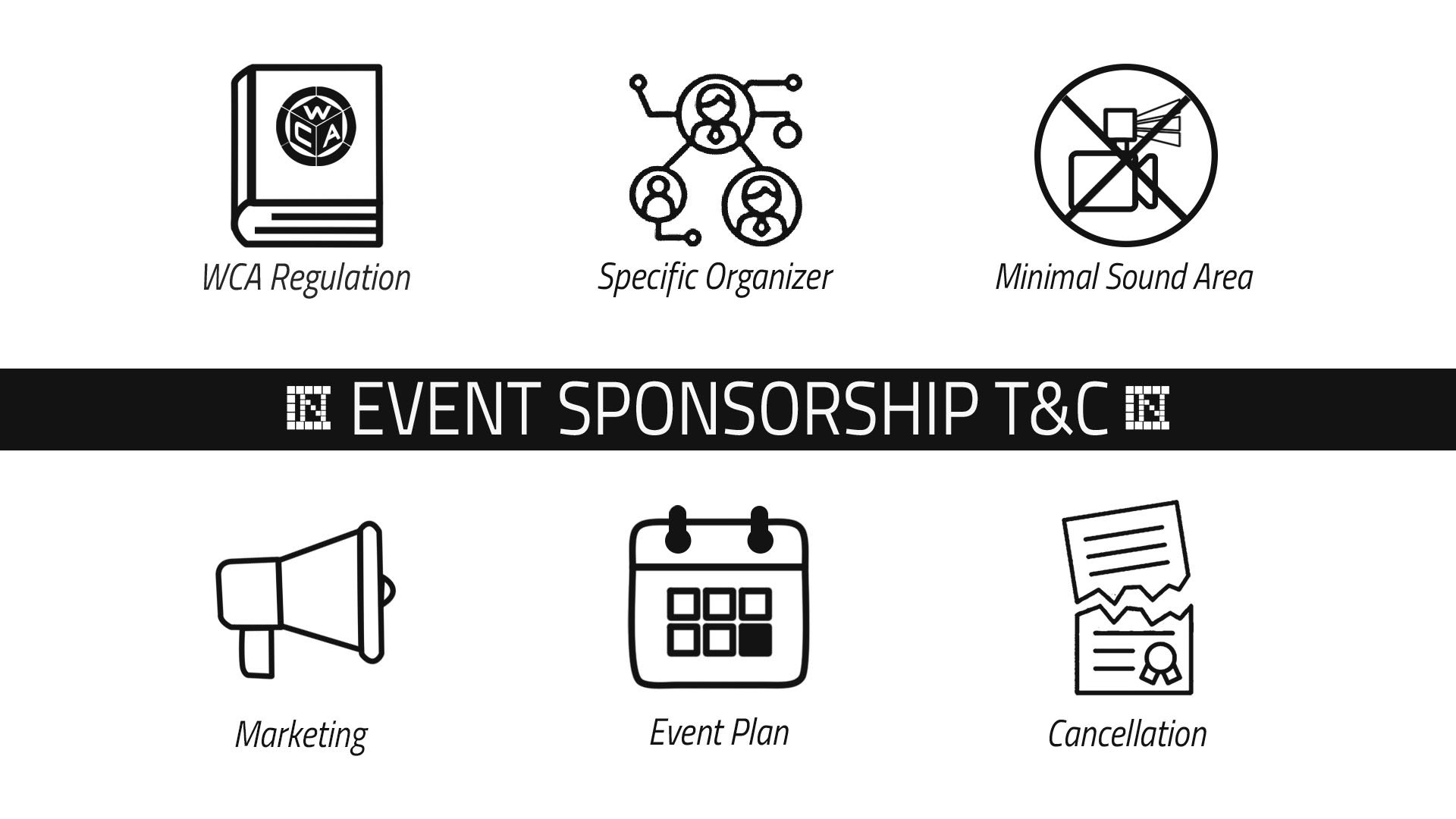 Event sponsorship T&C